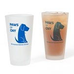 PAWS of CNY, Inc. (Blue) Drinking Glass