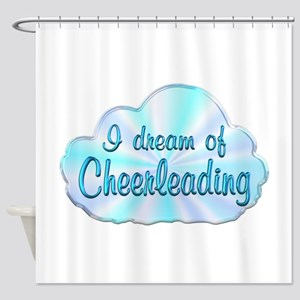 Cheerleading Dreamer Shower Curtain