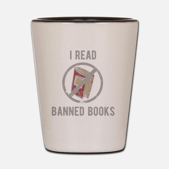 Unique I read banned books Shot Glass