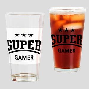 Super Gamer Drinking Glass