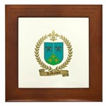 LAROCQUE Family Crest Framed Tile