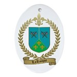 LAROCQUE Family Crest Oval Ornament