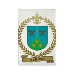 LAROCQUE Family Crest Rectangle Magnet (100 pack)