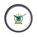 LAROCQUE Family Crest Wall Clock