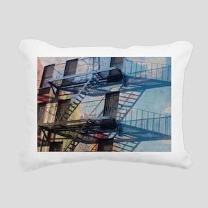 9th street Trompe L'oeil Rectangular Canvas Pillow