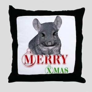 Chin Merry XMas Throw Pillow