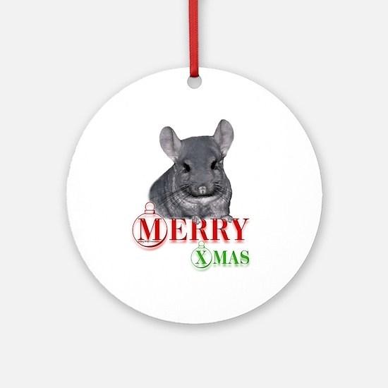 Chin Merry XMas Ornament (Round)