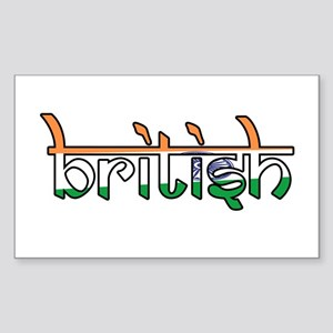 British Rectangle Sticker