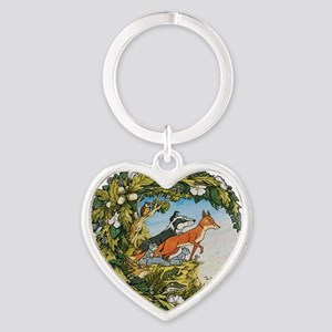 The Animals Of Farthing Wood Heart Keychain