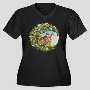 The Animals  Women's Plus Size V-Neck Dark T-Shirt