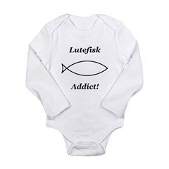 Lutefisk Addict Long Sleeve Infant Bodysuit
