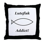 Lutefisk Addict Throw Pillow