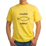 Lutefisk Addict Yellow T-Shirt