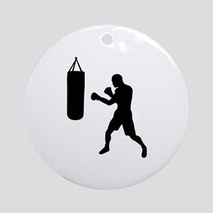 Boxing punching bag Ornament (Round)