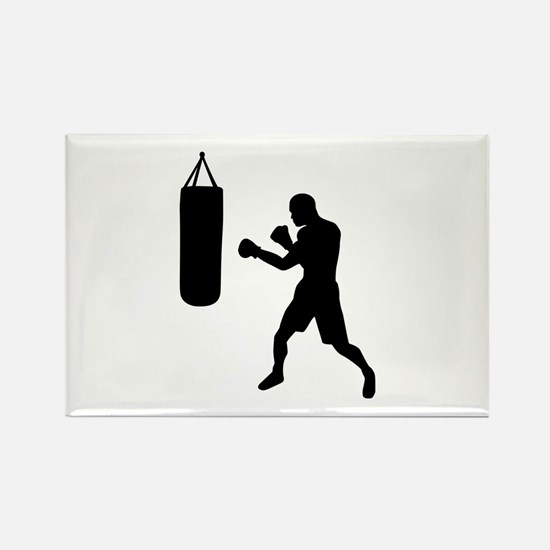 Boxing punching bag Rectangle Magnet (100 pack)