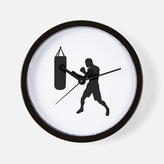 Boxing punching bag Wall Clock
