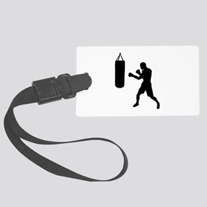 Boxing punching bag Large Luggage Tag