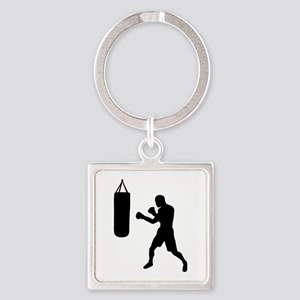 Boxing punching bag Square Keychain