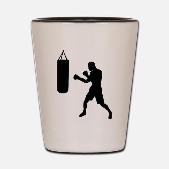 Boxing punching bag Shot Glass