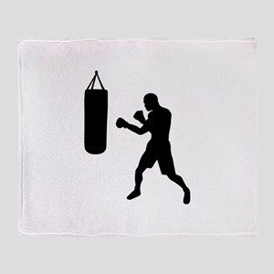 Boxing punching bag Throw Blanket