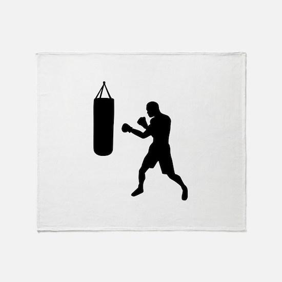 Boxing punching bag Throw Blanket