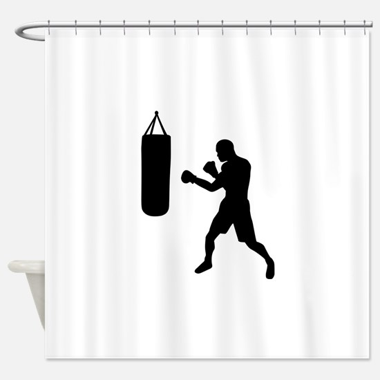 Boxing punching bag Shower Curtain