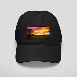 Rural Sunset Burst Baseball Cap