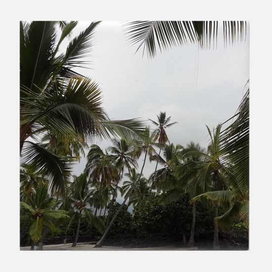 Palms in the Sand Tile Coaster