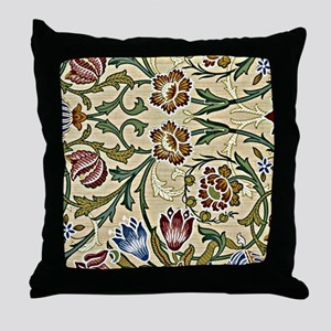 William Morris, Brocade, vintage flor Throw Pillow