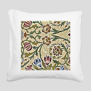 William Morris, Brocade, vint Square Canvas Pillow