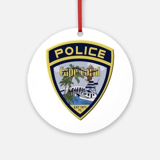 Cape Coral Police Ornament (Round)