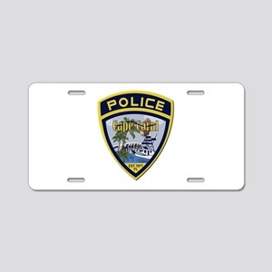 Cape Coral Police Aluminum License Plate