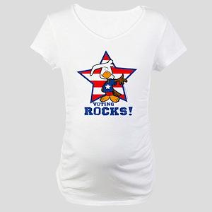 Voting Rocks Maternity T-Shirt