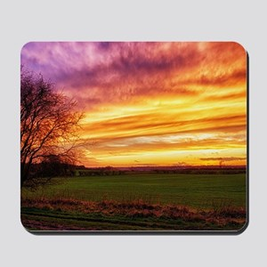 Rural Sunset Burst Mousepad