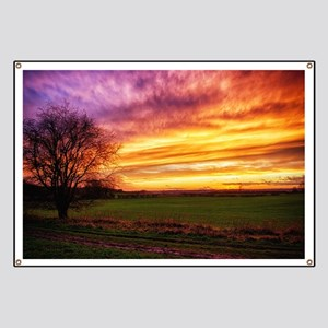 Rural Sunset Burst Banner