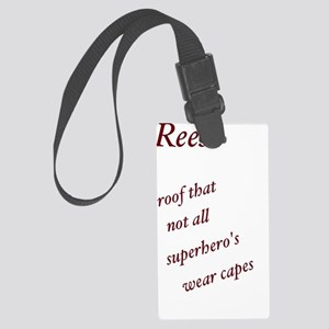 Reese superhero  Large Luggage Tag