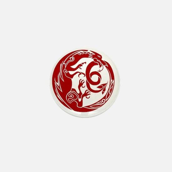 Welsh Dragon Mini Button