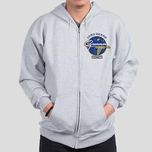 Grumman Wings Zip Hoodie Sweatshirt