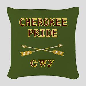 Cherokee Pride With Arrows Green Woven Throw Pillo
