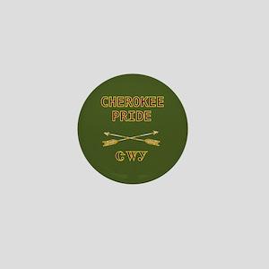 Cherokee Pride With Arrows Green Mini Button