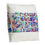 Vortex Burlap Throw Pillow