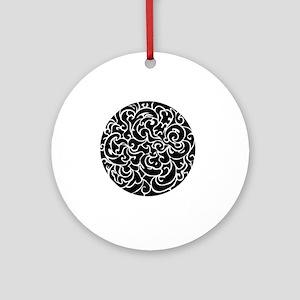 Mon Round Ornament