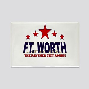 Ft. Worth The Panther City Roars Rectangle Magnet