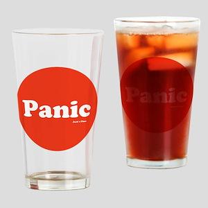 Panic Button Drinking Glass