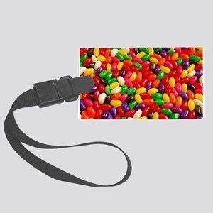 Colorful jellybeans Large Luggage Tag