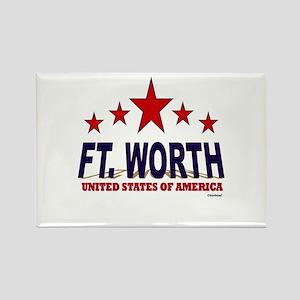 Ft. Worth U.S.A. Rectangle Magnet