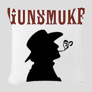 Gunsmoke Woven Throw Pillow