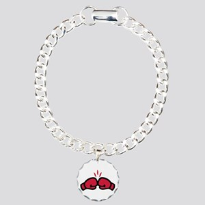 Boxing gloves punch Charm Bracelet, One Charm