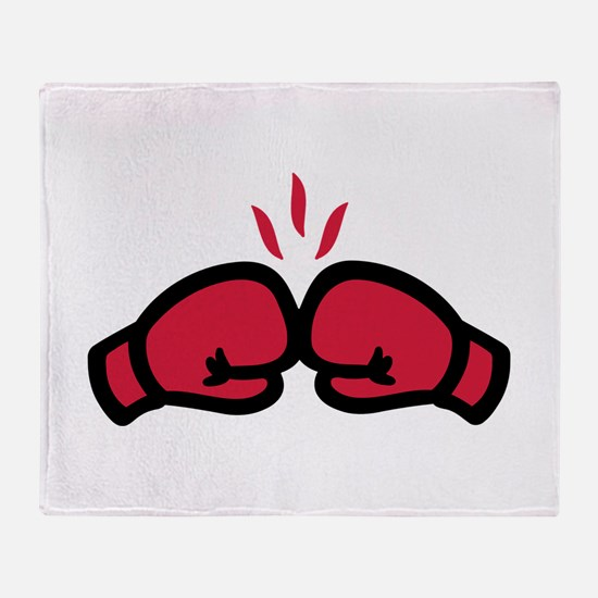 Boxing gloves punch Throw Blanket