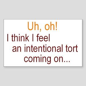 Intentional Tort Sticker